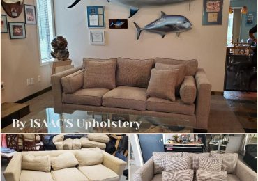 Residential Upholstery Before and After